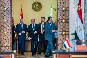 عکس/ دیدار پوتین با رئیسجمهور مصر