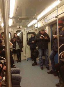 عکس/ یک روز عادی در متروی شهر مسکو