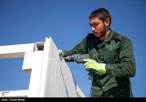 عکس/ ساخت کانکس توسط سپاه در مناطق زلزلهزده