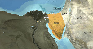 نقشه صحرای سینا