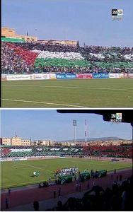 عکس/ حمایت از قدس در استادیوم های مراکش