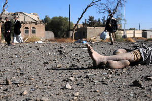 عکس/ جدیدترین جنایت خونین آل سعود در یمن 13+