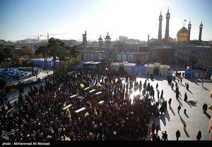 عکس/ تشییع پیکر هفت شهید مدافع حرم در قم