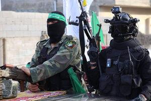 رژه نظامیان جنبش حماس فلسطین