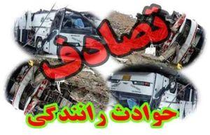 واژگونی و حریق خودروی تیبا در اتوبان امام علی