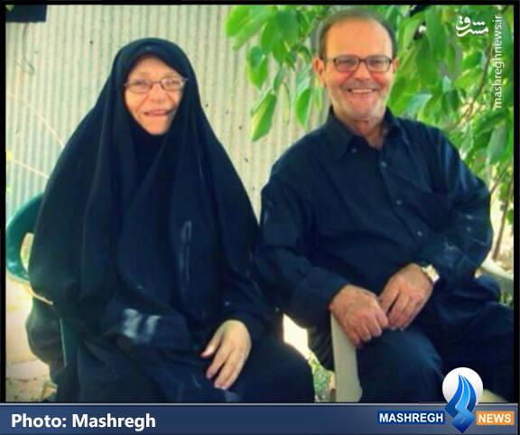 حاج فایز مغنیه و همسرش