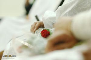 عکس/ جشن ازدواج در حرم حضرت معصومه(س)