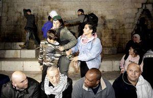 فیلم/ کتک خوردن پلیس زن اسرائیلی از زن فلسطینی