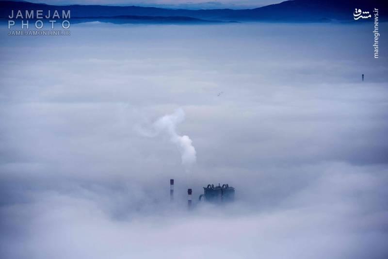 عکس/ مقدونیه غرق در مه