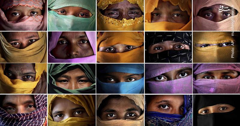 زنان عزتمند روهینگیایی که آسوشیتدپرس به سراغ آنها رفته و از تجاوز سربازان وحشی میانمار، گزارش مستند تهیه کرده است.