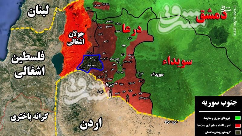 حمله قریب الوقوع اسرائیل به داعش ؛ سناریوی جدید نتانیاهو در جنوب سوریه چیست؟/ پهپادهای صهیونیستها در آسمان، تروریستهای ارتش آزاد بر روزی زمین +جزئیات، تصاویر و نقشه میدانی