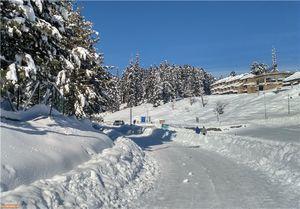 بارش برف سنگین در کشمیر