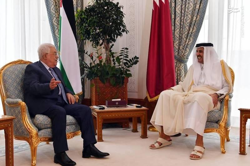 عکس/ دیدار محمود عباس با امیر قطر