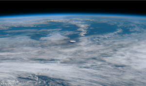 عکس فضایی از فوران آتشفشان بوگسلوف