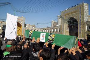 عکس/ تشییع شهید مدافعحرم در مشهد