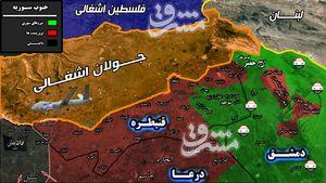چند درصد از شاهراه ارتباطی جنوب غرب استان دمشق در اشغال تروریست هاست؟/ نیروهای جبهه مقاومت در آستانه ورود به مزارع راهبردی بیت جن + نقشه میدانی