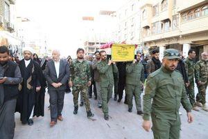 عکس/ تشییع شهید مدافع حرم در نجف اشرف