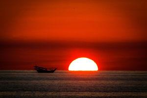 تصویری دیدنی از غروب آفتاب در کیش