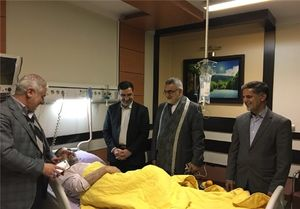 عیادت اعضای کمیسیون امنیت از حجت الاسلام ذوالنوری +عکس