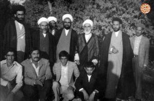 عکس/ مرحوم فلسفی و شهید مطهری در کنار رهبرانقلاب