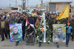 عکس/ تشییع شهید مدافع حرم در سوریه