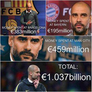 عکس/ هزینههای هنگفت گواردیولا در سه باشگاه