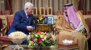 عکس/ دیدار محمود عباس با شاه سعودی