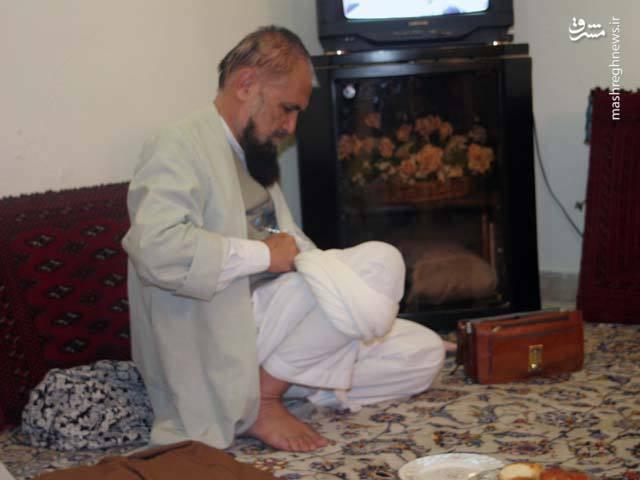آیت الله حائری شیرازی در منزل شخصی در شیراز