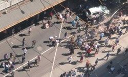 برخورد خودرو با عابران پیاده در شهر ملبورن/دستکم 12 نفر زخمی شدند +عکس