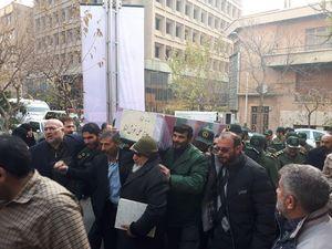 پیکر جانباز «شهید علی خوش لفظ» در تهران تشییع شد +عکس