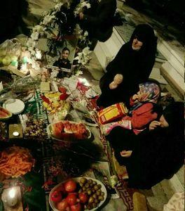 عکس/ یلدای متفاوت خانواده شهید مدافع حرم