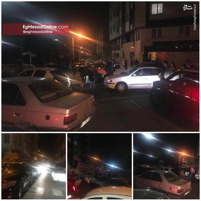 عکس/ ترافیک در خیابان های تهران پس از وقوع زلزله