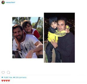 عکس/ پست هانی نوروزی درباره مسی