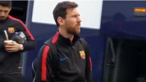 فیلم/ لحظه ورود بازیکنان بارسلونا به سانتیاگوبرنابئو