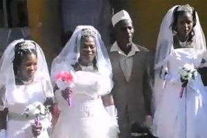 فیلم/ ازدواج همزمان این آقا، با سه زن!