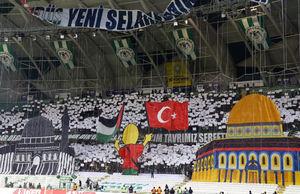 عکس/ حمایت متفاوت از قدس در مسابقه فوتبال