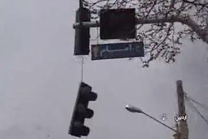 فیلم/خسارات طوفان در اردبیل