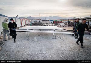 کارگاه سپاه و ساخت کانکس برای زلزلهزدگان + عکس