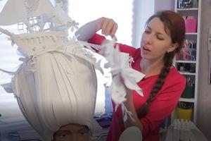 فیلم/ شاهکارهای کاغذی یک دختر روس