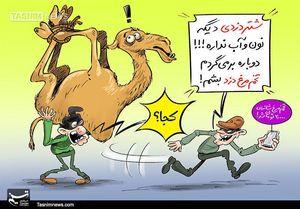 کاریکاتور/ شتر دزد، تخممرغ دزد میشود!