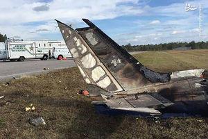 فیلم/ سقوط هواپیما در شب کریسمس با پنچ کشته