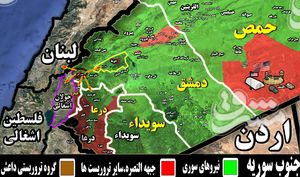 چرخش ۱۸۰ درجهای مواضع جبهه النصره در حومه غربی پایتخت سوریه/ جیغ تروریستها در جنوب غرب دمشق: «تسلیم میشویم» + نقشه میدانی