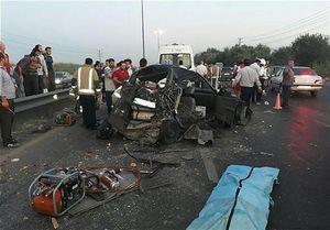 مرگ راننده جوان در اتاقک متلاشی شده پراید