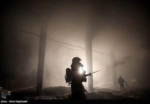 آتشسوزی یک حسینیه در درکه + عکس
