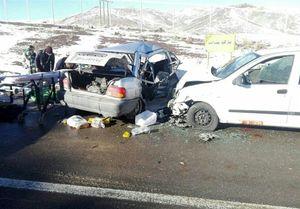 تصادف زنجیرهای خونین در قزوین
