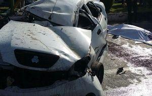 تصادف خودروی تیبا با 7 نفر سرنشین/ 4 نفر جان خود را از دست دادند