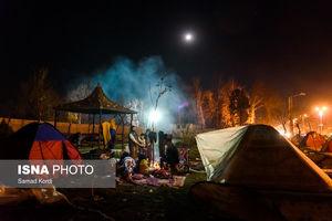 عکس/ ملارد، سه شب بعد از زلزله