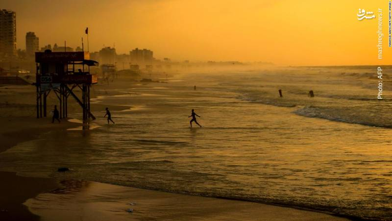 تفریح صبحگاهی در سواحل غزه