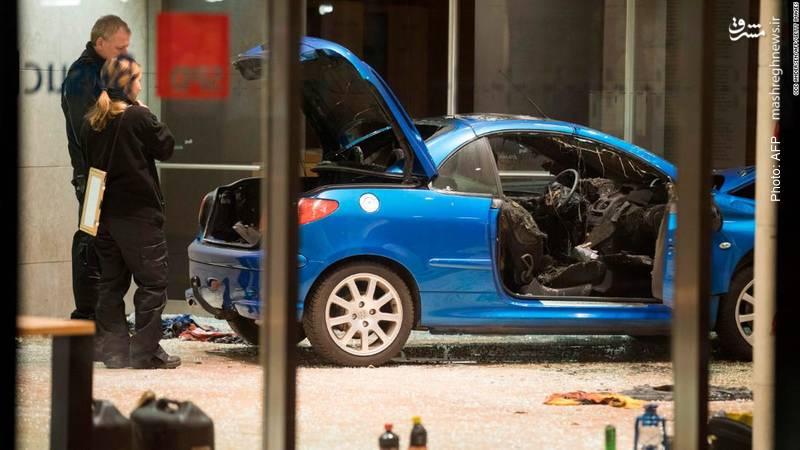 خرابی دفتر حزب سوسیال دموکرات آلمان پس از حمله یک فرد با خودرو به داخل لابی