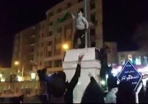 فیلم/ اهانت آشوبگران به پرچم ایران